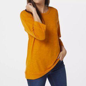 Denim &Co Naturals Slub Jersey Drop Shoulder Tunic